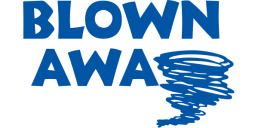 Blown Away Blue Tornado Logo
