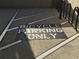 Bicycle Parking Only Stencil Striping Services