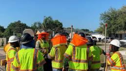 Asphalt team safety meeting