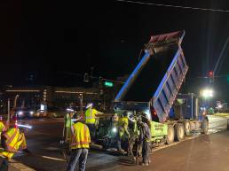 Asphalt crew night paving 6