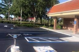 Sealcoat and re-stripe parking lot