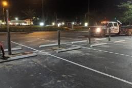 Bollard install parking lot