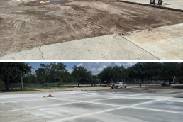 Concrete drive repair before and after